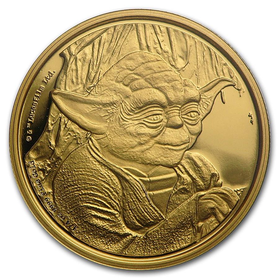 2016 Niue 1/4 oz Gold $25 Star Wars Yoda Proof (Box & COA)