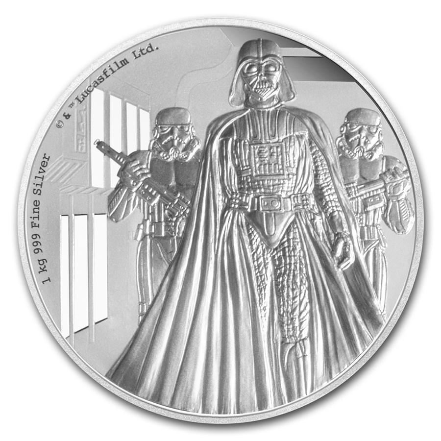 2016 Niue 1 kilo Silver $100 Star Wars Darth Vader (w/Box & COA)