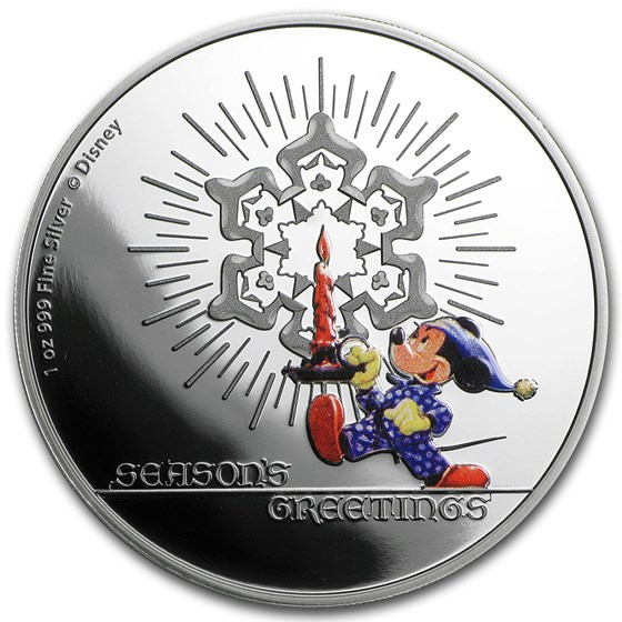 2016 Niue 1 oz Silver $1 Disney Season's Greetings Proof