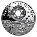 2016 Niue 1 oz Silver $2 Approach of The Wise Men (w/Filigree)
