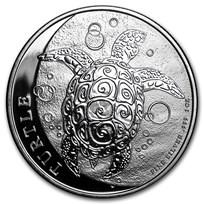 2016 Niue 1 oz Silver $2 Hawksbill Turtle
