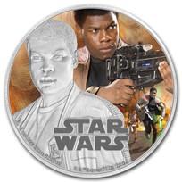2016 Niue 1 oz Silver $2 Star Wars Finn (w/Box & COA)