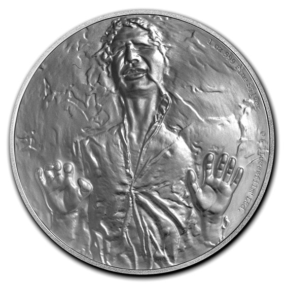 2016 Niue 1 oz Silver $2 Star Wars Han Solo (w/Box & COA)