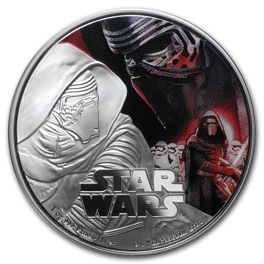 2016 Niue 1 oz Silver $2 Star Wars Kylo Ren (w/Box & COA)