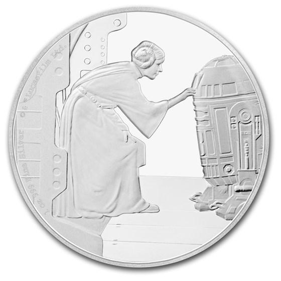 2016 Niue 1 oz Silver $2 Star Wars Princess Leia (w/Box & COA)