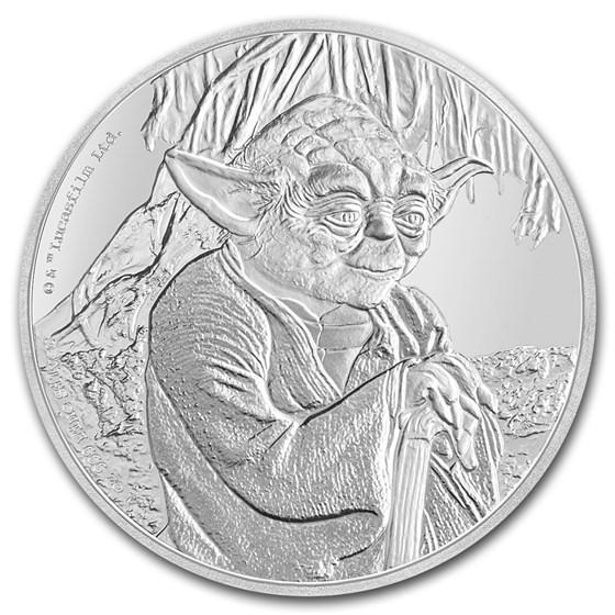 2016 Niue 1 oz Silver $2 Star Wars Yoda (w/Box & COA)