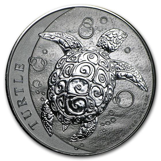 2016 Niue 2 oz Silver $5 Hawksbill Turtle