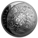 2016 Niue 5 oz Silver $10 Hawksbill Turtle BU