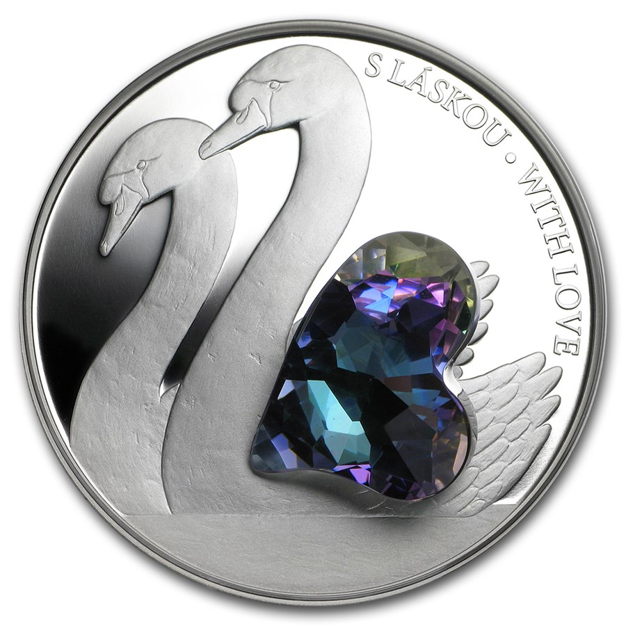 2016 Niue Silver Crystal Coin First Series With Love