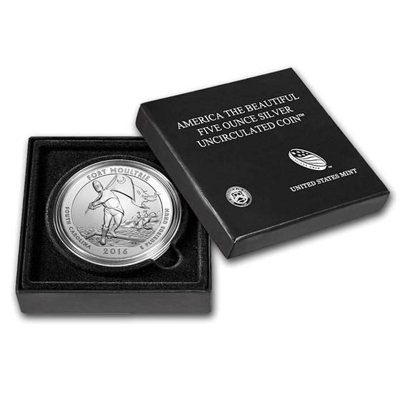 2016-P 5 oz Silver ATB Fort Moultrie (w/Box & COA)