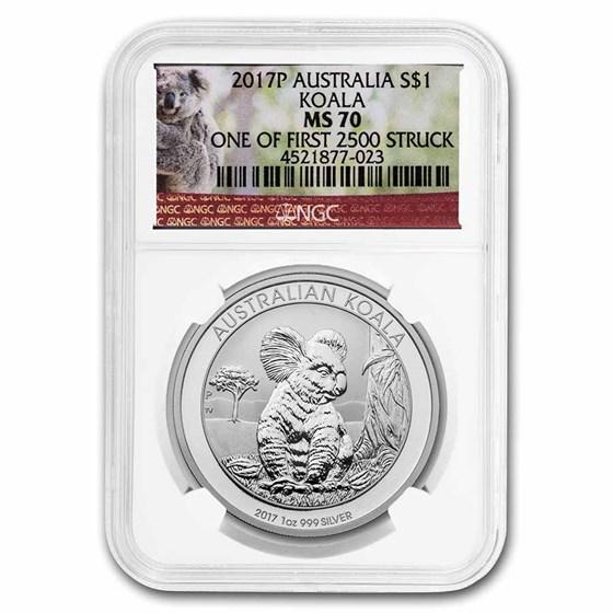 2016-P Australia 1 oz Silver Koala MS-70 NGC (First 2,500 Struck)