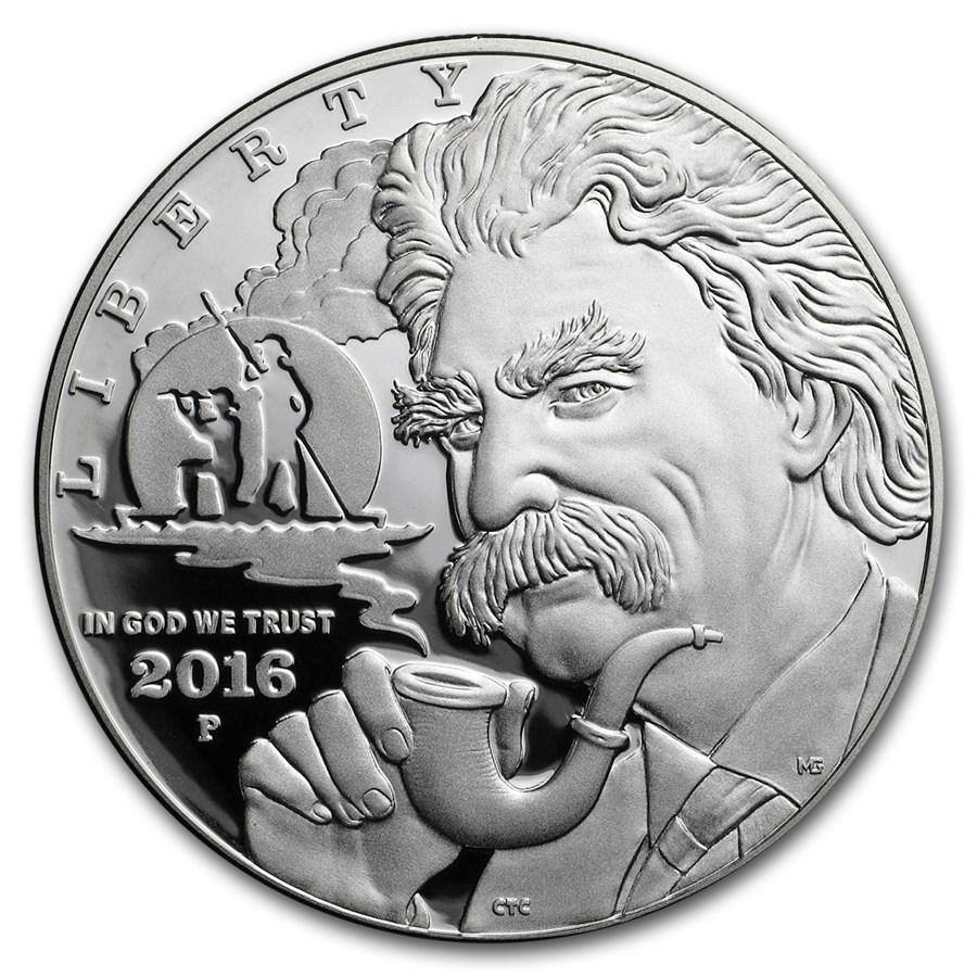 2016-P Mark Twain $1 Silver Commem Proof (Capsule Only)