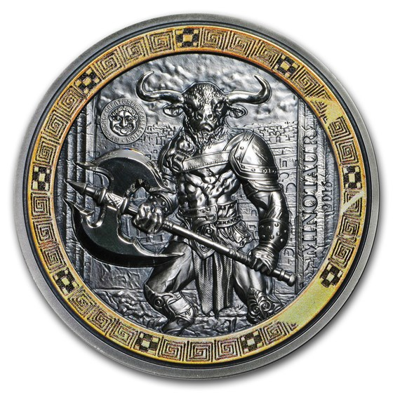 2016 Palau 2 oz Silver Mythical Creatures Collection Minotaur