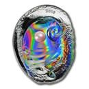 2016 Palau 3 oz Silver Oyster V Hologram Convex Haliotis Ovina