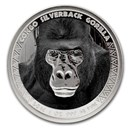2016 Republic of Congo 1 oz Silver Silverback Gorilla (Colorized)