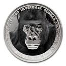 2016 Republic of Congo 1 oz Silver Silverback Gorilla (Colorized)