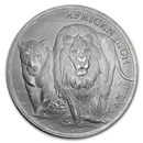 2016 Republic of Congo 5000 Francs 1 oz Silver African Lion BU
