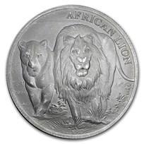 2016 Republic of Congo 5000 Francs 1 oz Silver African Lion BU