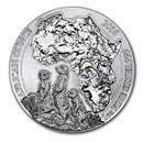 2016 Rwanda 1 oz Silver African Meerkat BU