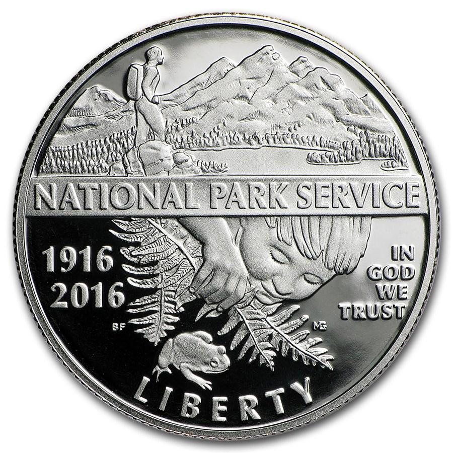 2016-S National Park Service Clad 1/2 Dollar Proof (Box & COA)