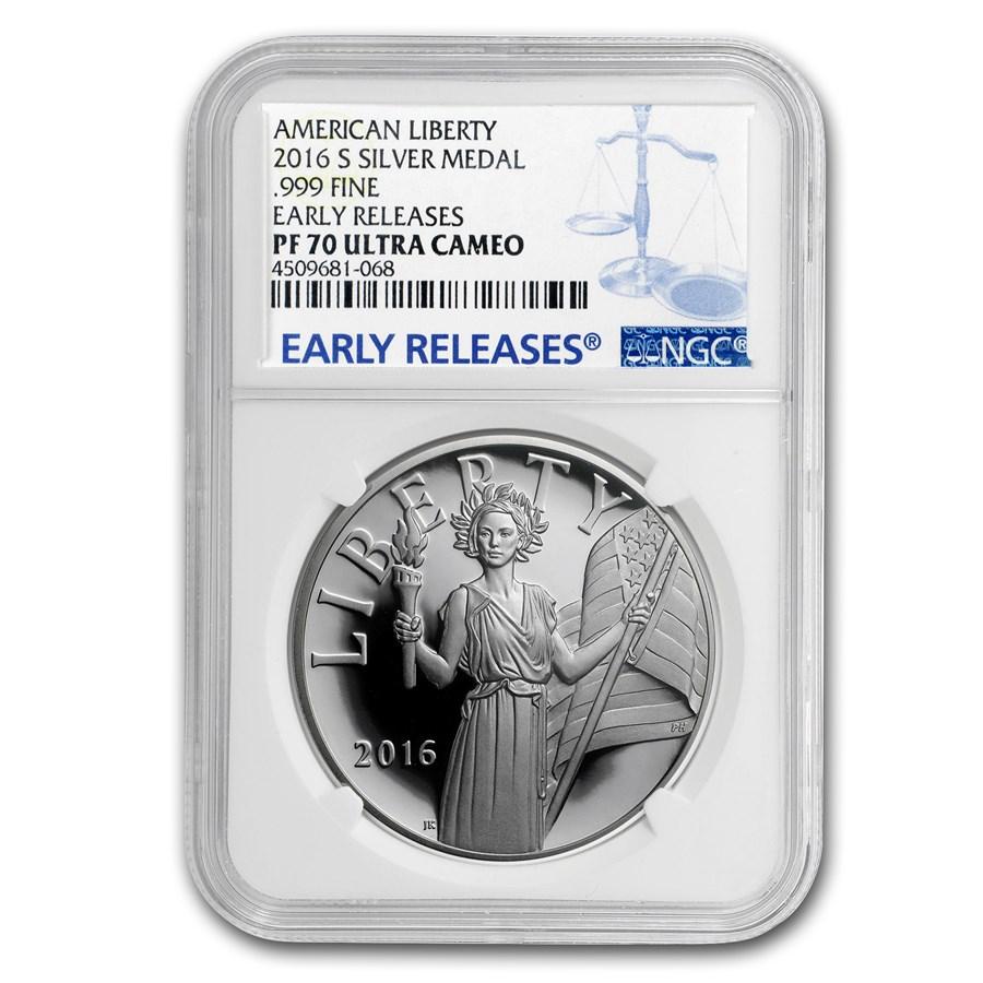 2016-S Silver American Liberty Medal PF-70 NGC (ER)