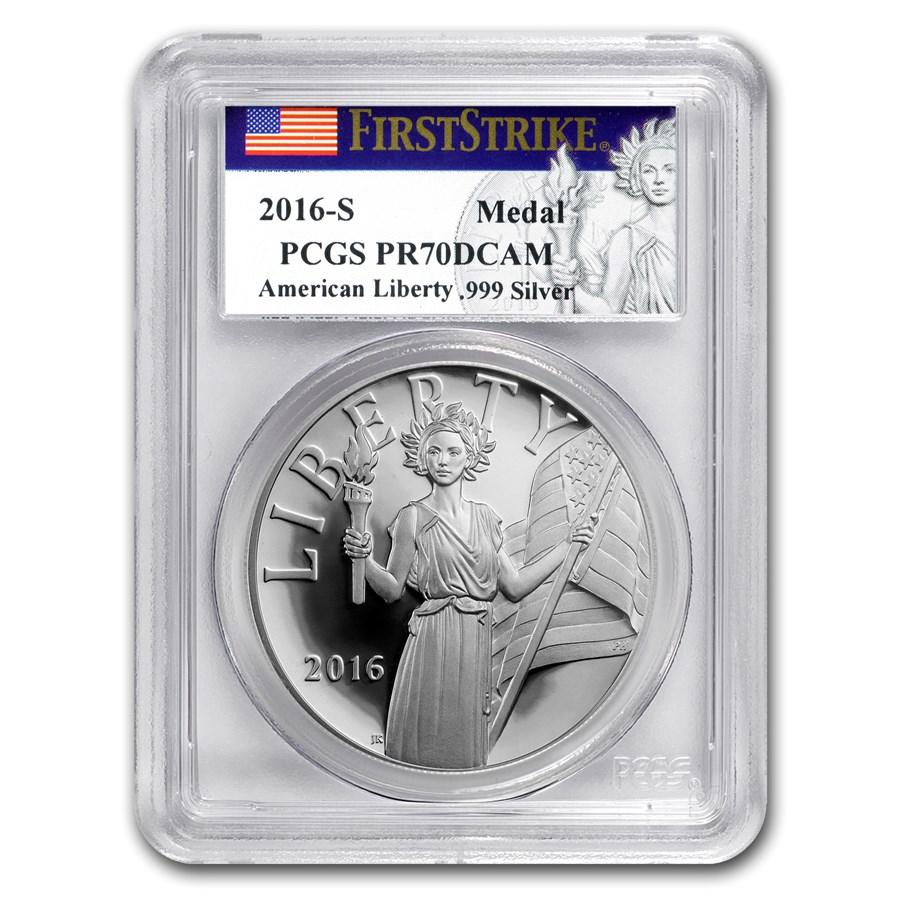 2016-S Silver American Liberty Medal PR-70 PCGS (FS)