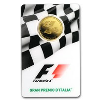 2016 Solomon Islands 1/4 oz Gold Formula 1 Italy Grand Prix Proof