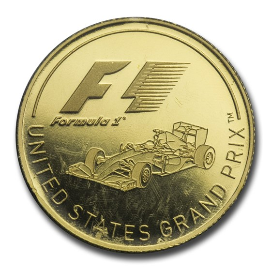 2016 Solomon Islands 1/4 oz Gold Formula 1 U.S. Grand Prix Proof