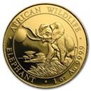 2016 Somalia 1 oz Gold African Elephant BU