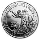 2016 Somalia 1 oz Silver Elephant BU