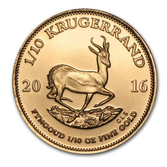 2016 South Africa 1/10 oz Gold Krugerrand