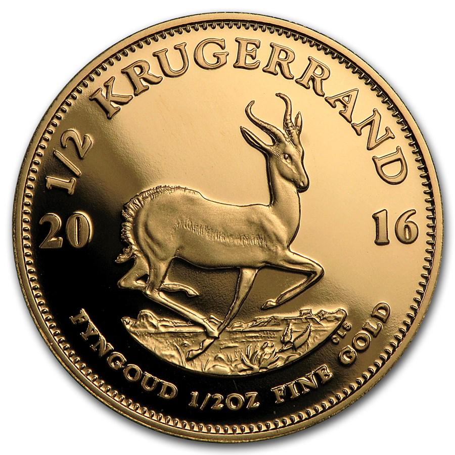 2016 South Africa 1/2 oz Proof Gold Krugerrand