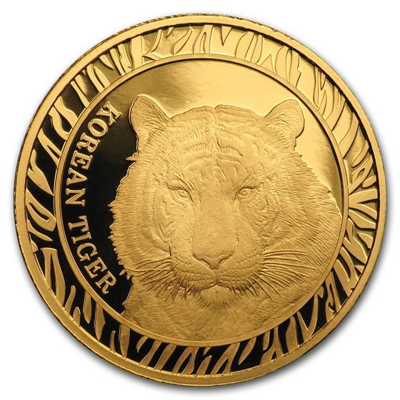 2016 South Korea 1/2 oz Gold Tiger Proof (w/Box & COA)