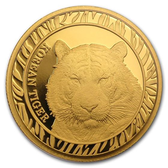 2016 South Korea 1/4 oz Gold Tiger Proof (w/Box & COA)