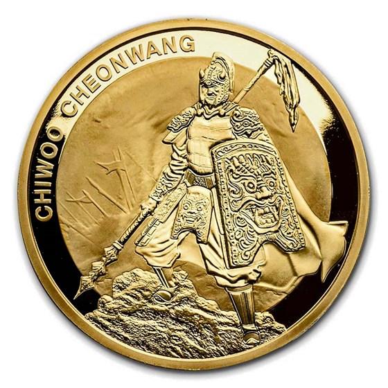 2016 South Korea 1 oz Gold 1 Clay Chiwoo Cheonwang BU