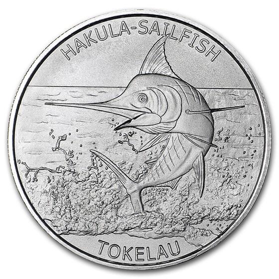 2016 Tokelau 1 oz Silver $5 Hakula Sailfish