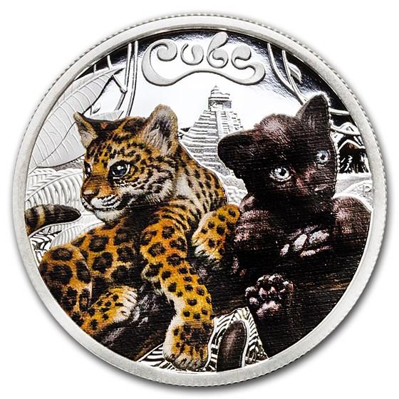 2016 Tuvalu 1/2 oz Silver Jaguar Cubs Proof