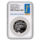 2016 Tuvalu 1 oz Star Trek: U.S.S. Enterprise PF-70 UCAM NGC (FD)