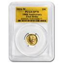2016-W 1/10 oz Gold Mercury Dime SP-70 PCGS