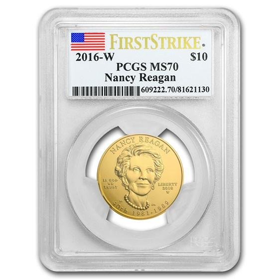 2016-W 1/2 oz Gold Nancy Reagan MS-70 PCGS (FS)