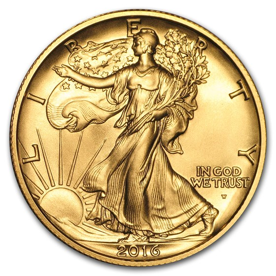 2016-W 1/2 oz Gold Walking Liberty Half Dollar Centennial (w/OGP)