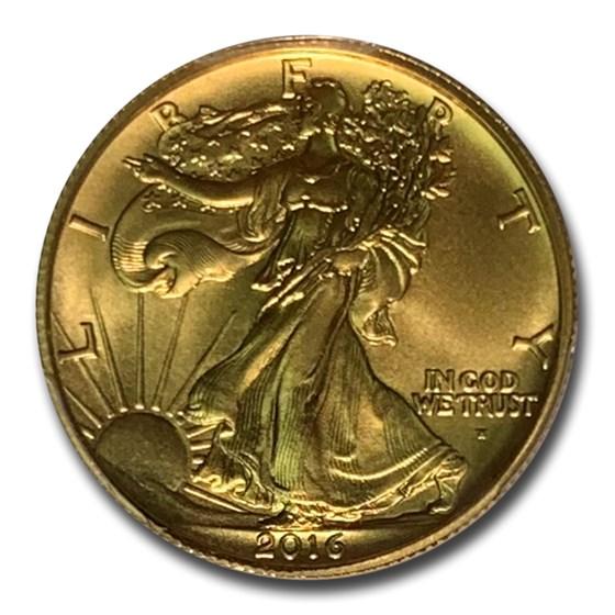 2016-W 1/2 oz Gold Walking Liberty Half Dollar SP-69 PCGS (FS)