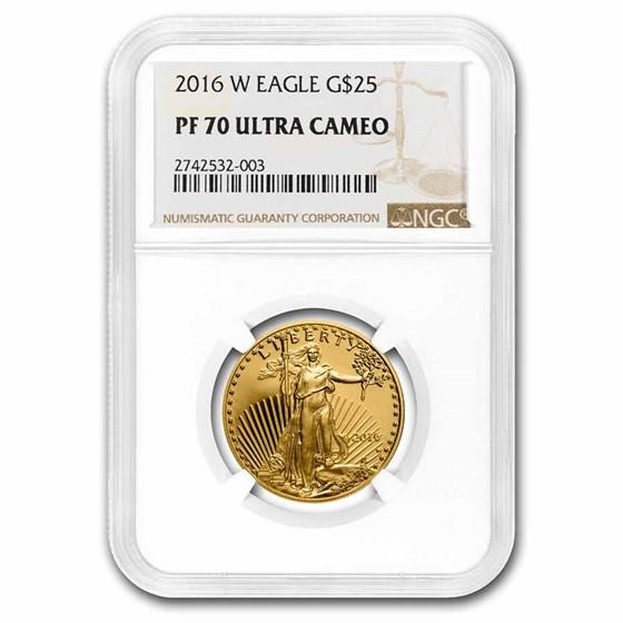 2016-W 1/2 oz Proof American Gold Eagle PF-70 UCAM NGC