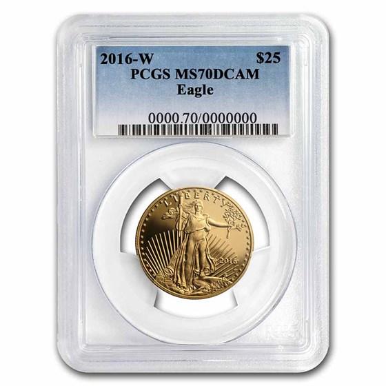 2016-W 1/2 oz Proof American Gold Eagle PR-70 PCGS