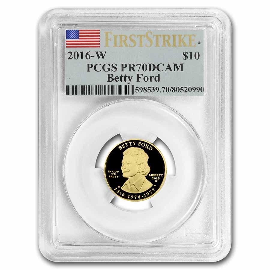 2016-W 1/2 oz Proof Gold Betty Ford PR-70 PCGS (First Strike)