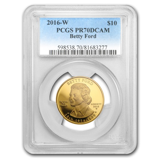 2016-W 1/2 oz Proof Gold Betty Ford PR-70 PCGS