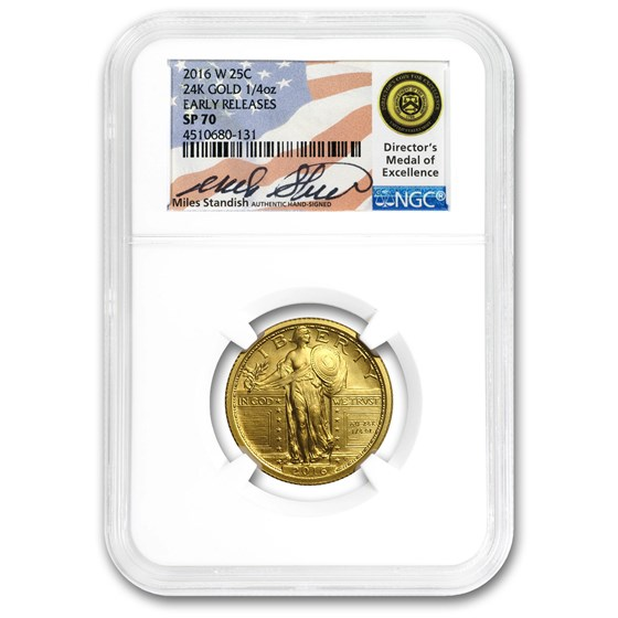 2016-W 1/4 oz Gold Liberty Quarter SP-70 NGC (Mixed Labels)