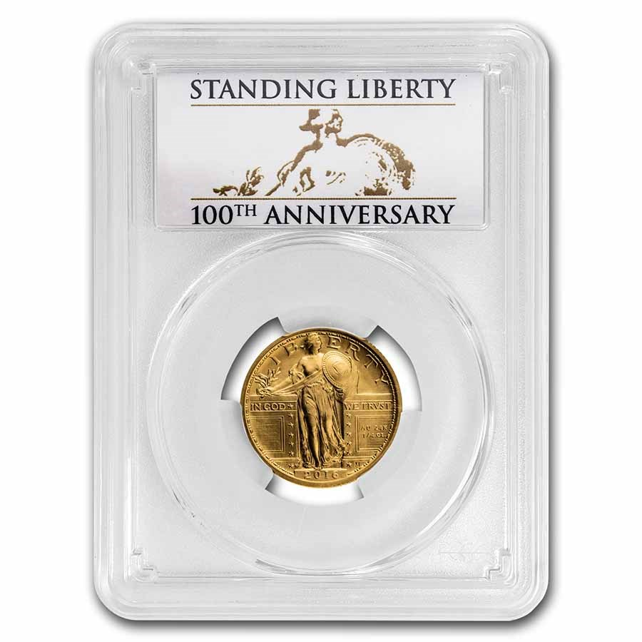 2016-W 1/4 oz Gold Standing Liberty Quarter SP-69 PCGS (FS)