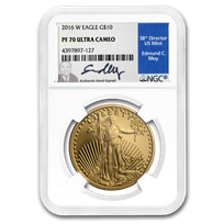 2016-W 1/4 oz Proof American Gold Eagle PF-70 NGC (Labels Vary)