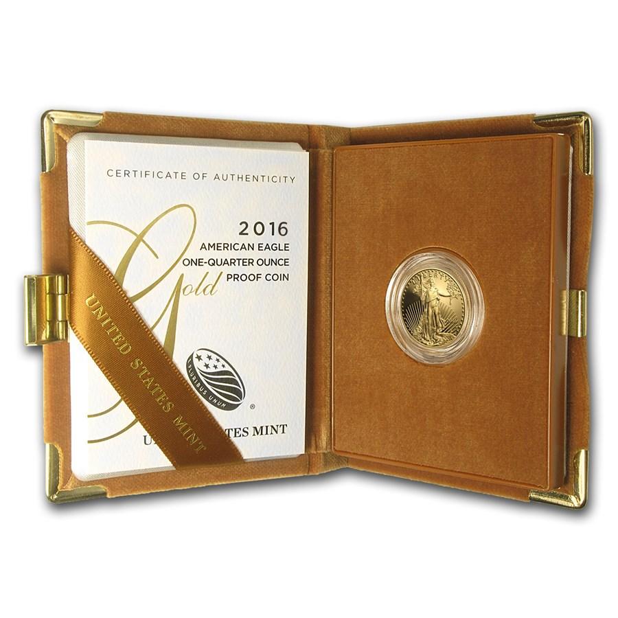 2016-W 1/4 oz Proof American Gold Eagle (w/Box & COA)